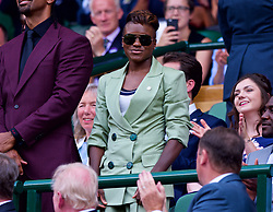 LONDON, ENGLAND - Saturday, July 7, 2018: Boxer Nicola Adams in the Royal Box before the Gentlemen's Singles 3rd Round match on day six of the Wimbledon Lawn Tennis Championships at the All England Lawn Tennis and Croquet Club. (Pic by Kirsten Holst/Propaganda)