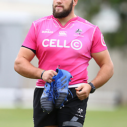 DURBAN, SOUTH AFRICA - MAY 15: Thomas du Toit of the Cell C Sharks during the Cell C Sharks training session at Jonsson Kings Park on May 15, 2018 in Durban, South Africa. (Photo by Steve Haag/Gallo Images)