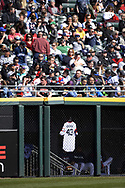 CHICAGO - APRIL 22:  The jersey of Danny Farquhar #43 of the Chicago White Sox hangs in the White Sox bullpen during the game against the Houston Astros on April 22, 2018 at Guaranteed Rate Field in Chicago, Illinois.  (Photo by Ron Vesely)   Subject:   Danny Farquhar