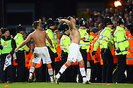 Picture by Paul Chesterton/Focus Images Ltd +44 7904 640267.26/01/2013.The Luton Town players celebrate victory at the end of the The FA Cup 4th Round match at Carrow Road, Norwich.