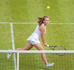 LONDON, ENGLAND - Wednesday, June 24, 2009: Jade Curtis (GBR) during the Ladies' Doubles 1st Round match on day three of the Wimbledon Lawn Tennis Championships at the All England Lawn Tennis and Croquet Club. (Pic by David Rawcliffe/Propaganda)