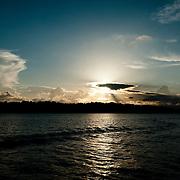 Sunset by Colon Island in Bocas del Toro, Panama