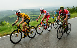 Benjamin Hill (AUS) of Ljubljana Gusto Santic, Luka Mezgec (SLO) of Mitchelton - Scott during 4th Stage of 26th Tour of Slovenia 2019 cycling race between Nova Gorica and Ajdovscina (153,9 km), on June 22, 2019 in Slovenia. Photo by Vid Ponikvar / Sportida