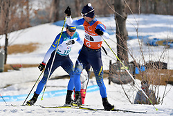 KAZIK Oleksandr UKR B1 Guide: KUCHERYAVIY Sergiy competing in the ParaBiathlon, Para Biathlon at  the PyeongChang2018 Winter Paralympic Games, South Korea.