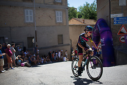 Elena Cecchini (ITA) of CANYON//SRAM Racing rides near the top of the final climb of Stage 5 of the Giro Rosa - a 12.7 km individual time trial, starting and finishing in Sant'Elpido A Mare on July 4, 2017, in Fermo, Italy. (Photo by Balint Hamvas/Velofocus.com)