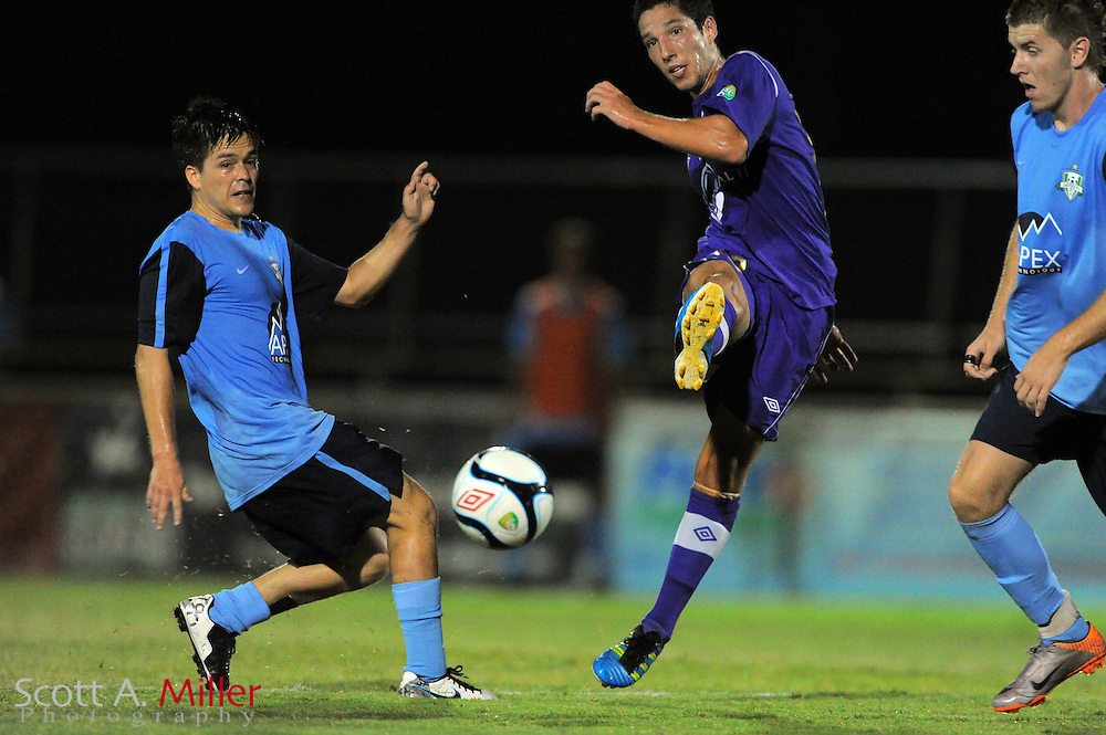 Orlando City U23 player Luis Ocejo (13) in action during the Lions US Open Cup game against Jacksonville United on May 15, 2012 in Sanford, Fla. ..©2012 Scott A. Miller..