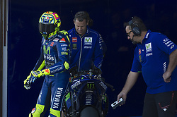 November 10, 2017 - Cheste, Spain - Valentino Rossi (Movistar Yamaha MotoGP) at pit during free practice for Valencia Motogp  (Credit Image: © Gaetano Piazzolla/Pacific Press via ZUMA Wire)