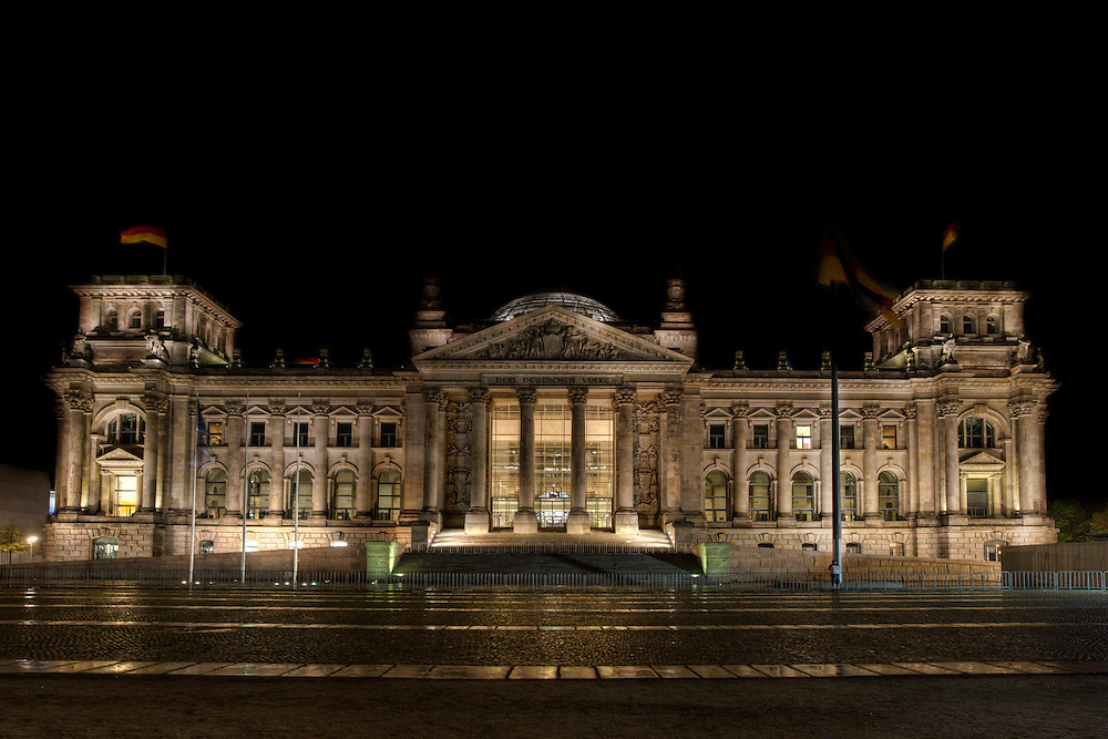 The Reichstag building (German: Reichstagsgebäude) is a historical edifice constructed to house the Imperial Diet (German: Reichstag), of the German Empire. It was opened in 1894 and housed the Diet until 1933, when it was severely damaged in a fire. After World War II, the building fell into disuse and partially refurbished only in the 1960s, but no attempt at full restoration was made until after German reunification on 3 October 1990, when it underwent a reconstruction led by architect Norman Foster. After its completion in 1999, it once again became the meeting place of the German parliament: the modern Bundestag.
