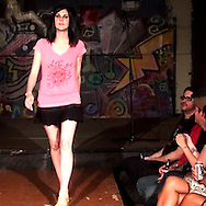 A model for designer Jackie Casey at the LadyFest Fashion Show at c{space in downtown Dayton, Saturday, August 7. 2010..