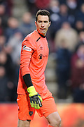 Jon McLaughlin (#1) of Heart of Midlothian during the William Hill Scottish Cup 4th round match between Heart of Midlothian and Hibernian at Tynecastle Stadium, Gorgie, Scotland on 21 January 2018. Photo by Craig Doyle.