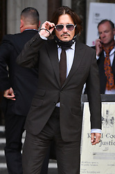 © Licensed to London News Pictures. 15/07/2020. London, UK. Actor JOHNNY DEPP arrives at the High Court of Justice  for his libel trial against The Sun newspaper. Photo credit: Ray Tang/LNP