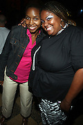l to r: Tasha Stoute and Echo at The Josh X showcase sponsored by MusaEntertainment and held at SOB's on August 27, 2009 in New York City