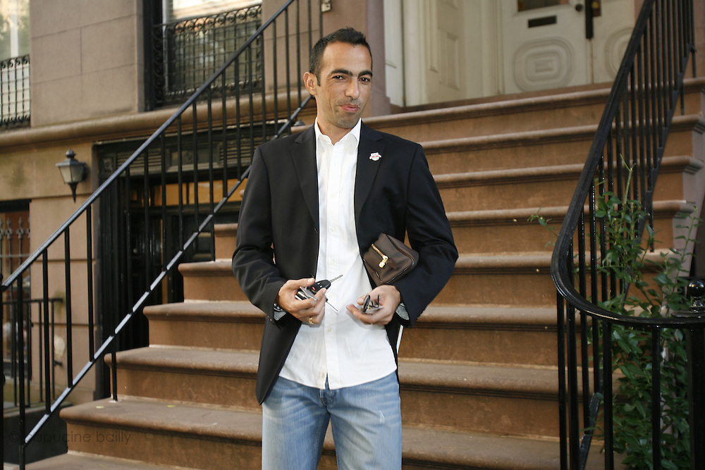 Saturday October 14th 2006. New York, New York. United States..Red Bulls French soccer player Youri Djorkaeff leaves his home to go to the Giants Stadium to play a game against Kansas City. This game could be his last one as a professional player.