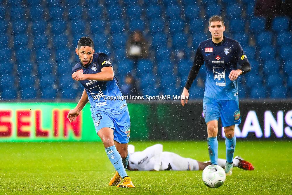 Jerome MOMBRIS  - 12.12.2014 - Le Havre / Laval - 17eme journee de Ligue 2 <br /> Photo : Fred Porcu / Icon Sport