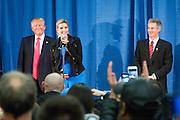 Milford, New Hampshire, USA, 20160202: Den republikanske presidentkandidaten Donald Trump kom rett fra nominasjonsvalget i Iowa til New Hampshire, hvor hen leder på målingene. Foto: Ørjan F. Ellingvåg