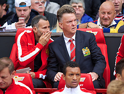 16-08-2014 ENG: Premier League, Manchester United vs Swansea City, Manchester<br /> manager Louis van Gaal and assistant Ryan Giggs <br /> <br /> ***NETHERLANDS ONLY***