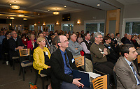 A full audience in attendance for the annual meeting for LRGHealthcare on Wednesday evening at Laconia Country Club.  (Karen Bobotas/for the Laconia Daily Sun)