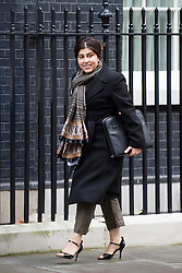 © London News Pictures. 01/11/2011. London, UK. Minister without Portfolio Baroness Sayeeda Warsi arriving at 10 Downing Street this morning (01/11/2011) for a cabinet meeting. Photo credit: Ben Cawthra/LNP