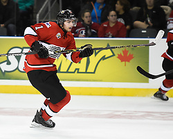 Jason Dickinson of the Guelph Storm represented Team OHL in Game 4 of the 2014 SUBWAY Super Series in Kingston, ON on Monday, Nov. 17, 2014. Photo by Aaron Bell/OHL Images