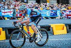 Paris, France - Tour de France :: Stage 21 - 21th July 2013 - David MILLAR last escape rider before peloton sprint