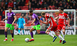 Bobby Reid of Bristol City takes on Adam Clayton of Middlesbrough - Mandatory by-line: Matt McNulty/JMP - 14/04/2018 - FOOTBALL - Riverside Stadium - Middlesbrough, England - Middlesbrough v Bristol City - Sky Bet Championship