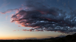 Sunset Sky and Cloud Formations over Valley