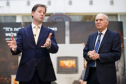 © licensed to London News Pictures. London, UK 02/12/2013. Deputy Prime Minister Nick Clegg and Business Secretary Vince Cable holding a Q&A session with small business owners in west London ahead of the autumn statement. Photo credit: Tolga Akmen/LNP