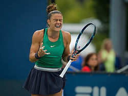 August 15, 2018 - Cincinnati, Ohio, USA - Maria Sakkari of Greece in action during her second-round match at the 2018 Western & Southern Open WTA Premier 5 tennis tournament. (Credit Image: © AFP7 via ZUMA Wire)