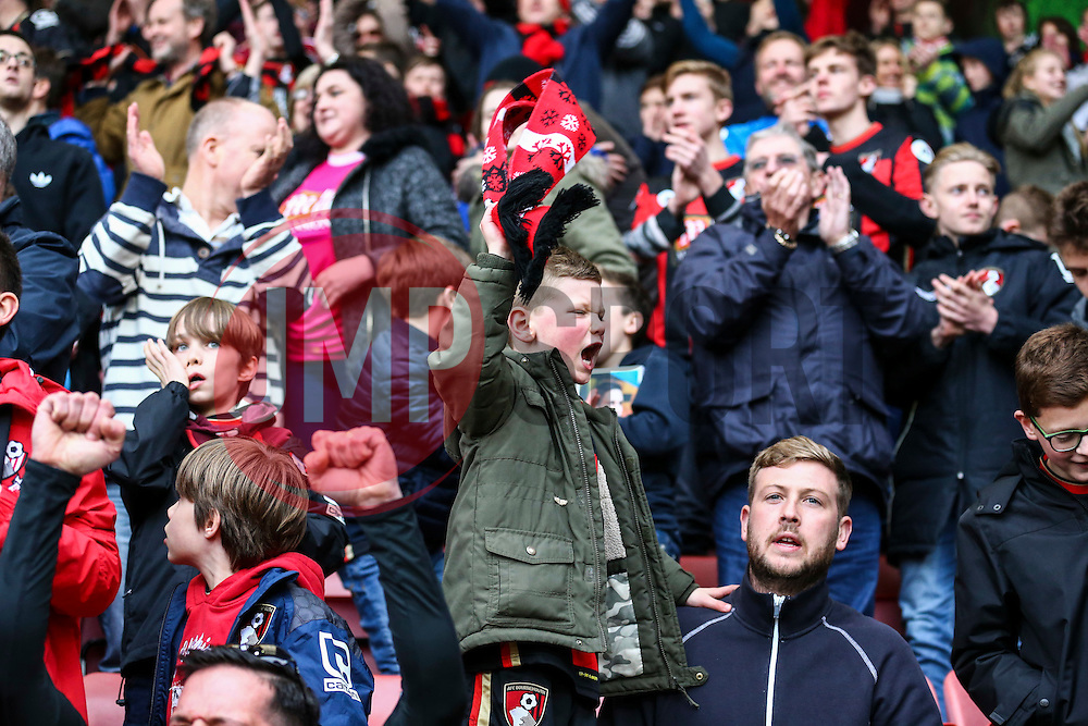 Bournemouth fans celebrate their win, Bournemouth 3-2 Swansea City - Mandatory by-line: Jason Brown/JMP - Mobile 07966 386802 12/03/2016 - SPORT - FOOTBALL - Bournemouth, Vitality Stadium - AFC Bournemouth v Swansea City - Barclays Premier League