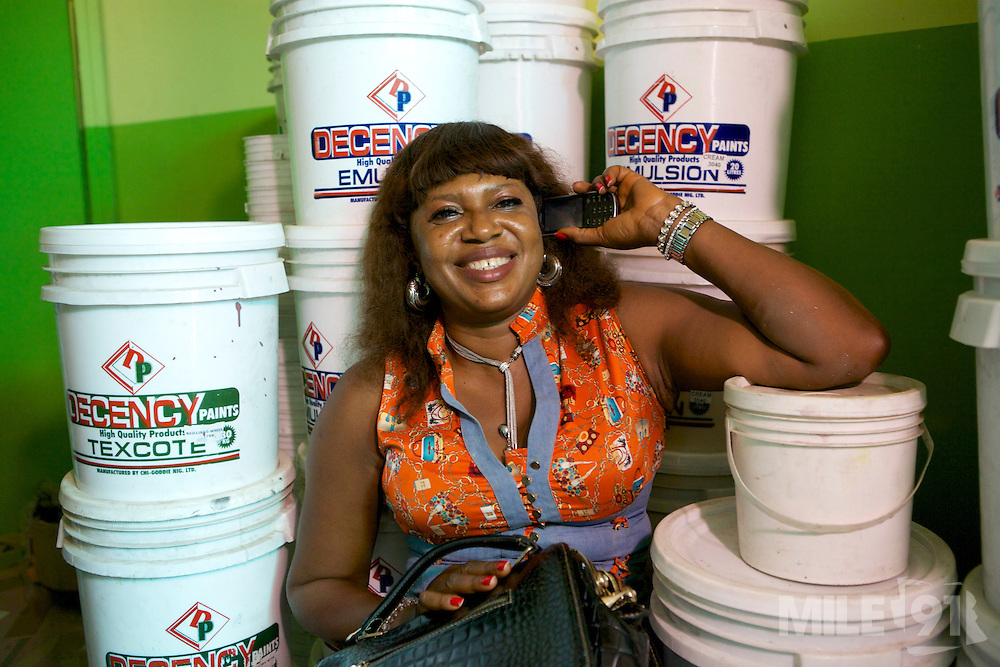 Chika Chukwu set up and runs Decency Paints, which sells paint.<br /> <br /> Chika set up her business just over a year ago. The biggest thing that she has learnt from the Youth for Technology training is about managing and investing money. She used to think you needed lots of money to grow the business but now understand you can invest small amounts too.