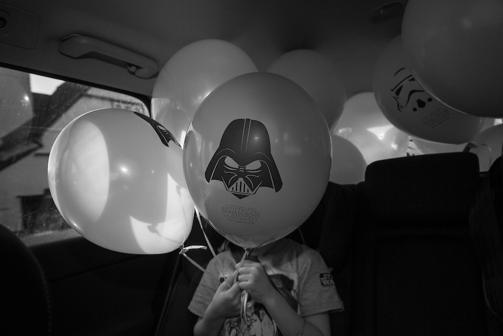 "Ben, aka ""The Dark Lord"" on his way to his 6th birthday party in Berkhamsted, England Sunday, March 13, 2016 (Elizabeth Dalziel) #thesecretlifeofmothers #bringinguptheboys #dailylife"