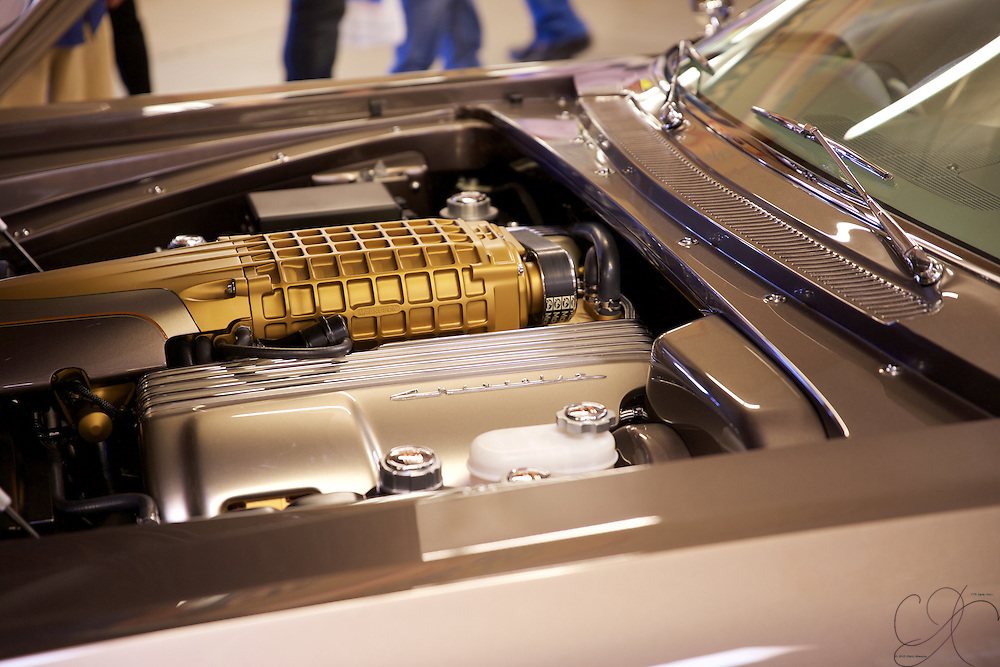 "The power plant of a Foose tuned '65 Impala - ""The imposter"". This is not your daddy's old Chevy!"