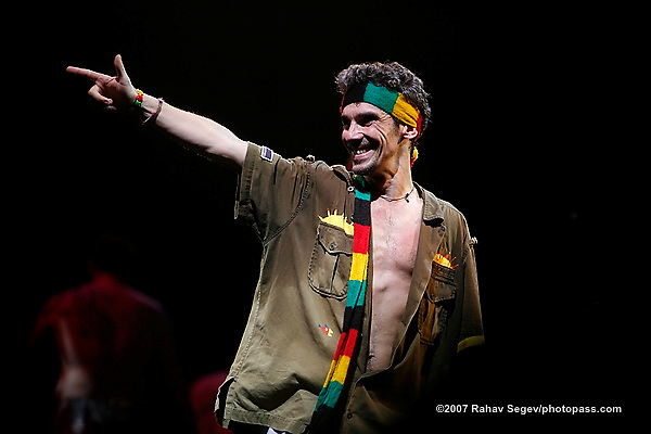 Manu Chao performing with his band on June 27, 2007 in Prospect Park Brooklyn