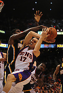 Mar. 6 2010; Phoenix, AZ, USA;  Phoenix Suns center Louis Amundson (17) in the second half at the US Airways Center. The Suns defeated the Pacers 113 to 105. Mandatory Credit: Jennifer Stewart-US PRESSWIRE.