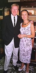 MR & MRS DAVID JENSEN he is the radio presenter, at a party in London on 1st September 1998.MJN 75