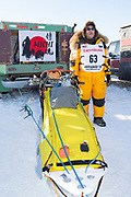 Musher Michi Konno at the Iditarod Race 2018.<br /> <br /> Photographer: Christina Sjögren<br /> Copyright 2018, All Rights Reserved