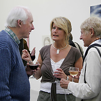 Director of the Burren College of Art Mary Hawkes-Greene discusses the 2nd Burren Exhibition which is currently on display at the college with Mike and Anne Noone during it's official opening at the weekend.<br /> <br /> Photograph by Yvonne Vaughan.