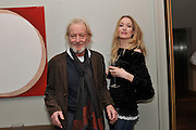RONALD PICKUP; DAUGHTER; RACHEL PICKUP, The after-party for Waiting for Godot.( Opening at the Theatre Royal Haymarket. )  Haymarket Hotel. London. 27 January 2010