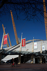 UK ENGLAND LONDON 27FEB15 - View of the Millenium Dome, in north Greenwich, London. The dome, now part of The O2, is the largest of its type in the world.<br /> <br /> <br /> <br /> jre/Photo by Jiri Rezac<br /> <br /> <br /> <br /> © Jiri Rezac 2015