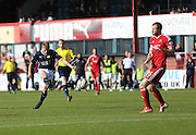 Jim McAlister fires in a shot - Dundee v Aberdeen, SPFL Premiership at Dens Park<br /> <br />  - &copy; David Young - www.davidyoungphoto.co.uk - email: davidyoungphoto@gmail.com