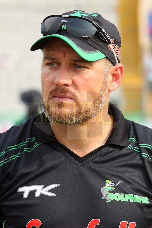 Morne VAN WYK (Captain) during match 4 of the Oppo Champions League Twenty20 between the Dolphins and the Perth Scorchers held at the Punjab Cricket Association Stadium, Mohali, India on the 20th September 2014<br /> <br /> Photo by:  Ron Gaunt / Sportzpics/ CLT20<br /> <br /> <br /> Image use is subject to the terms and conditions as laid out by the BCCI/ CLT20.  The terms and conditions can be downloaded here:<br /> <br /> http://sportzpics.photoshelter.com/gallery/CLT20-Image-Terms-and-Conditions-2014/G0000IfNJn535VPU/C0000QhhKadWcjYs