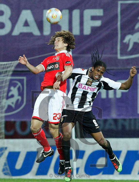 Liga Portuguesa de Futebol, Estadio da Madeira.Nacional vs Benfica.David Luiz e Edgar.Foto Gregorio Cunha