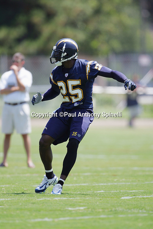 SAN DIEGO - JUNE 10:  Cornerback Antonio Cromartie #25, the San Diego Chargers first round pick in the 2006 NFL draft, works out during mini camp at Chargers Park on June 10, 2006 in San Diego, California. ©Paul Anthony Spinelli *** Local Caption *** Antonio Cromartie