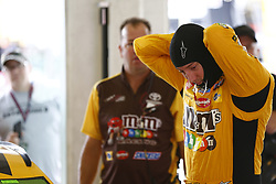 November 16, 2018 - Homestead, Florida, U.S. - Kyle Busch (18) hangs out in the garage prior to practice for the Ford 400 at Homestead-Miami Speedway in Homestead, Florida. (Credit Image: © Justin R. Noe Asp Inc/ASP)