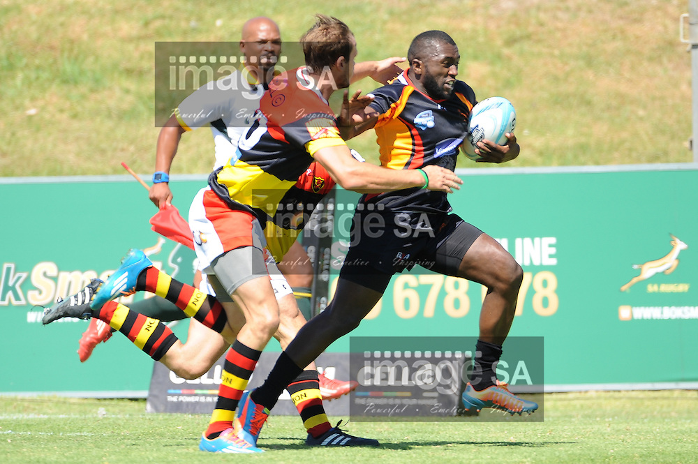 CAPE TOWN, SOUTH AFRICA - Saturday 28 February 2015, Menzi Ngidi of Vaseline Wanderers during the second round match of the Cell C Community Cup between Hamiltons and Vaseline Wanderers at the Stephan Oval, Green Point.<br /> Photo by Roger Sedres/ImageSA/SARU