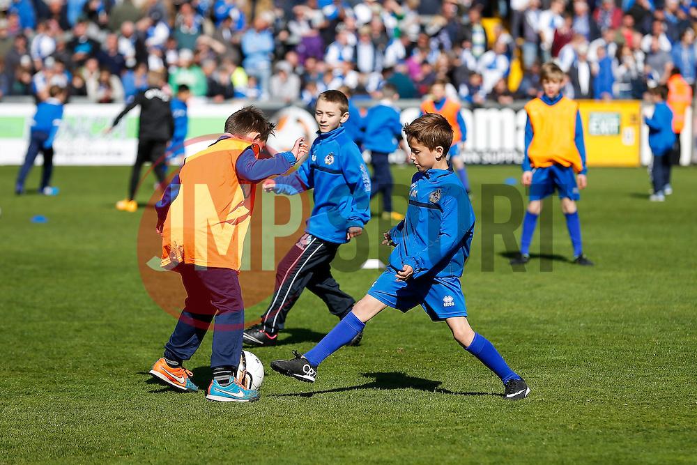Academy teams - Photo mandatory by-line: Rogan Thomson/JMP - 07966 386802 - 11/04/2015 - SPORT - FOOTBALL - Bristol, England - Memorial Stadium - Bristol Rovers v Southport - Vanarama Conference Premier.
