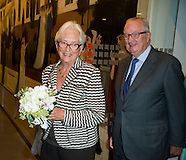 King Albert II and Queen Paola at the lecture of Dr. Lengelé