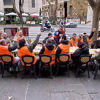 Pranzo di Natale dei disoccupati al Ministero del Lavoro