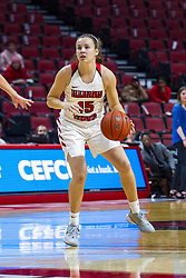 NORMAL, IL - October 30: Frannie Corrigan during a college women's basketball game between the ISU Redbirds and the Lions on October 30 2019 at Redbird Arena in Normal, IL. (Photo by Alan Look)