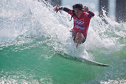HUNTINGTON BEACH, California (Sunday, July 19, 2009) - Malia Manuel (Kalaheo, HI), 16, at the Hurley US Open of Surfing Junior Pro Semifinals heat 1. Photo: Eduardo E. Silva.